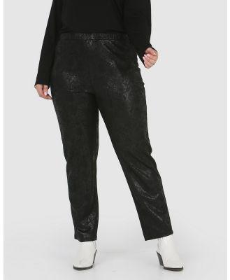 Advocado Plus - Essential Slim Fit Pants - Pants (Black Croc) Essential Slim Fit Pants