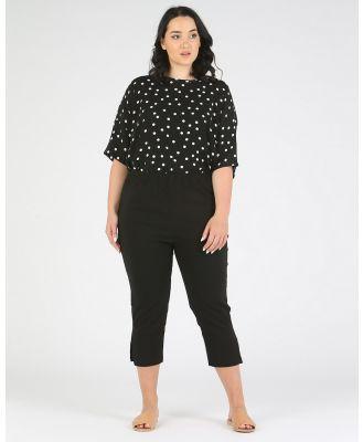 Advocado Plus - Side Split Pants - Pants (Black) Side Split Pants