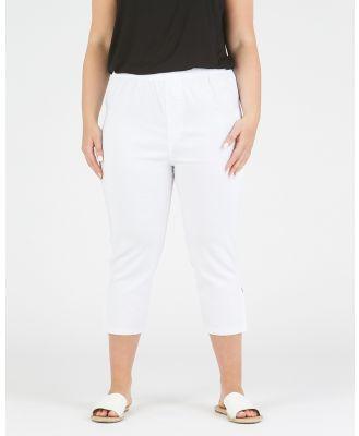 Advocado Plus - Side Split Pants - Pants (White) Side Split Pants