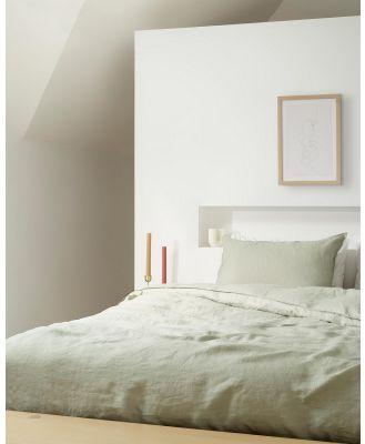 Aere Home - Linen Quilt Cover Set - Home (Sage) Linen Quilt Cover Set