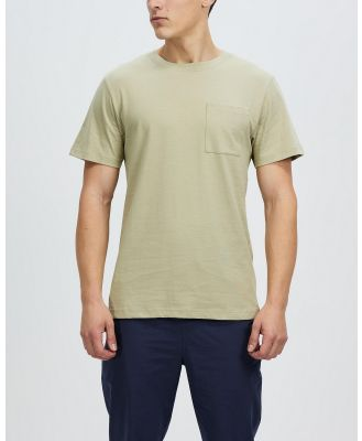 AERE - Relaxed Organic Cotton Pocket Tee - T-Shirts & Singlets (Light Khaki) Relaxed Organic Cotton Pocket Tee