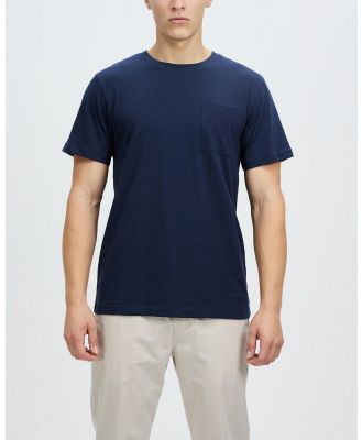 AERE - Relaxed Organic Cotton Pocket Tee - T-Shirts & Singlets (Navy) Relaxed Organic Cotton Pocket Tee