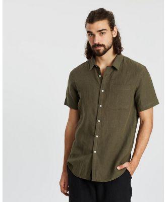 AERE - SS Linen Shirt - Casual shirts (Khaki) SS Linen Shirt