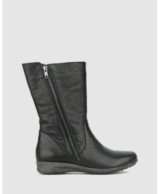 Airflex - Caddie Leather Calf Boots - Boots (Black) Caddie Leather Calf Boots