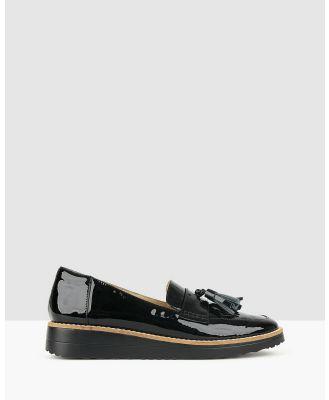 Airflex - Dori Leather Loafers - Flats (Black Pat) Dori Leather Loafers