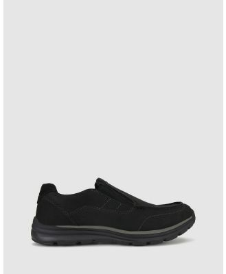 Airflex - Ross Leather Loafer - Casual Shoes (Black) Ross Leather Loafer