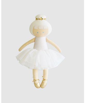 Alimrose - Ballerina Doll 48cm - Plush dolls (Gold) Ballerina Doll 48cm