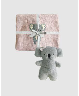 Alimrose - Organic Koala Baby Blanket Set - Blankets (Pink) Organic Koala Baby Blanket Set