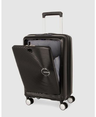 American Tourister - Curio Spinner 55 20 T Front Open - Travel and Luggage (Black) Curio Spinner 55-20 T Front Open