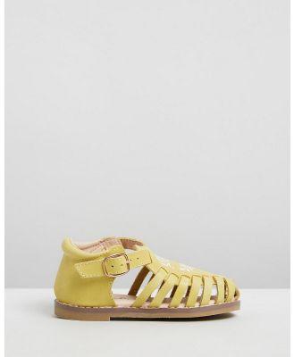 Anchor & Fox - Sicily Sandals   Kids - Casual Shoes (Lemon) Sicily Sandals - Kids