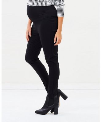 Angel Maternity - Maternity Fitted Slim Work Pants - Pants (Black) Maternity Fitted Slim Work Pants