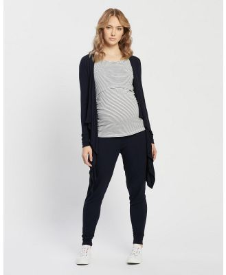 Angel Maternity - Maternity Street to Home Three Piece Outfit - All gift sets (Navy) Maternity Street to Home Three-Piece Outfit