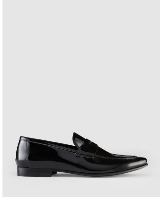 AQ by Aquila - Devan Penny Loafers - Dress Shoes (Patent Black) Devan Penny Loafers
