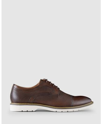 AQ by Aquila - Jonson Lace Up Shoes - Dress Shoes (Brown) Jonson Lace Up Shoes