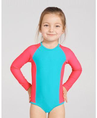 Aqua Blu Kids - Stepping Stones Long Sleeve One Piece   Kids - One-Piece / Swimsuit (Multi) Stepping Stones Long Sleeve One-Piece - Kids