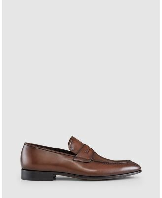 Aquila - Adkins Penny Loafers - Dress Shoes (Brown) Adkins Penny Loafers