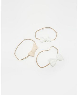 ArchNOllie - Classic Bow Gift Set - Hair Accessories (White & Cream) Classic Bow Gift Set