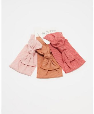 ArchNOllie - Hush Head Wrap 3 Pack - Hair Accessories (Blush, Ochre & Rust) Hush Head Wrap 3-Pack