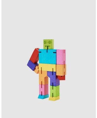 Areaware - Cubebot Medium Robot Toy - Accessories (Multi) Cubebot Medium Robot Toy