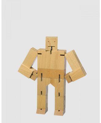 Areaware - Cubebot Medium Robot Toy - Toys (Natural) Cubebot Medium Robot Toy