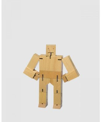 Areaware - Cubebot Small Robot Toy - Toys (Natural) Cubebot Small Robot Toy
