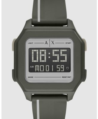 Armani Exchange - Green Men's Digital Watch - Watches (Green) Green Men's Digital Watch