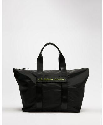Armani Exchange - Medium Shopper - Bags (Black) Medium Shopper