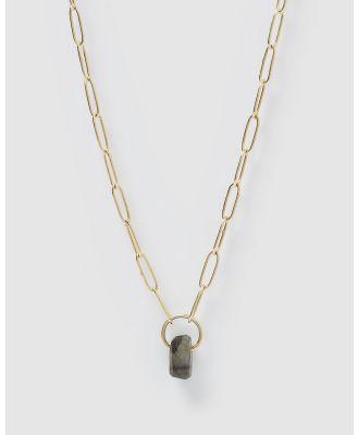 Arms Of Eve - Granada Labradorite Necklace - Jewellery (Gold) Granada Labradorite Necklace