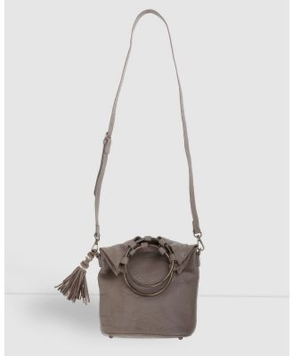 Arms Of Eve - Society Leather Slouch Bag - Bags (Taupe) Society Leather Slouch Bag