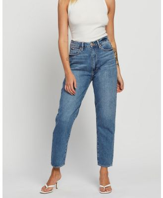 Articles of Society - Charlotte Mom Jeans - High-Waisted (Dirty Dark Indigo Wash) Charlotte Mom Jeans