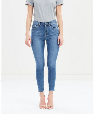Articles of Society - High Lisa Ankle Hug Jeans - High-Waisted (Aloha Blue) High Lisa Ankle Hug Jeans