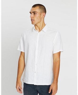 Assembly Label - Casual Short Sleeve Shirt - Casual shirts (White) Casual Short Sleeve Shirt