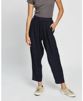Assembly Label - Noma Linen Pants - Pants (True Navy) Noma Linen Pants