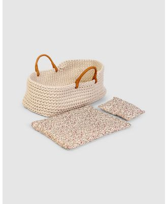 Astrup - Knitted Doll Basket - Accessories (White) Knitted Doll Basket