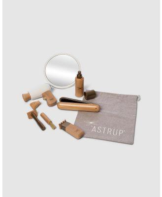 Astrup - Wooden Hairdressing Set, 9pcs - Wooden Toys (Multi) Wooden Hairdressing Set, 9pcs