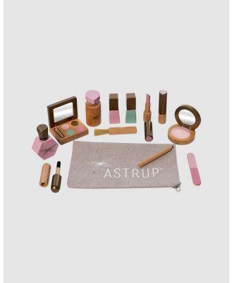 Astrup - Wooden Make up Set, 13pcs - Wooden Toys (Multi) Wooden Make-up Set, 13pcs