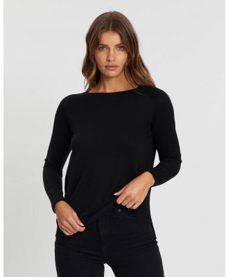 Atmos&Here - Cleo Lightweight Knit - Jumpers & Cardigans (Black) Cleo Lightweight Knit