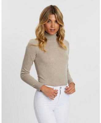 Atmos&Here - Kate Turtle Neck Knit - Tops (Neutral) Kate Turtle Neck Knit