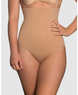 B Free Intimate Apparel - Power Shaping Stay Up Brief - Lingerie Accessories (Tan) Power Shaping Stay Up Brief