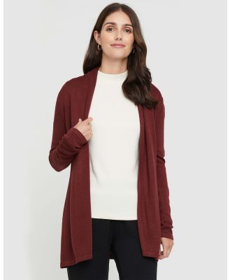Bamboo Body - Duster Jacket - Jumpers & Cardigans (Burnt Brick) Duster Jacket