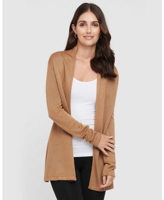 Bamboo Body - Duster Jacket - Jumpers & Cardigans (Camel) Duster Jacket