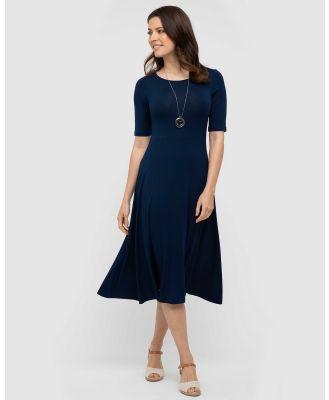 Bamboo Body - Harmony Dress - Dresses (Navy) Harmony Dress