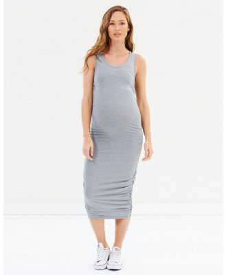 Bamboo Body - Ruched Tank Dress - Dresses (Grey) Ruched Tank Dress
