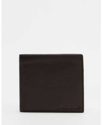 Barbour - Leather Billfold Coin Wallet - Wallets (Dark Brown) Leather Billfold Coin Wallet