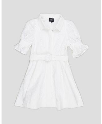 Bardot Junior - Mini Broderie Dress   Teens - Dresses (Ivory) Mini Broderie Dress - Teens