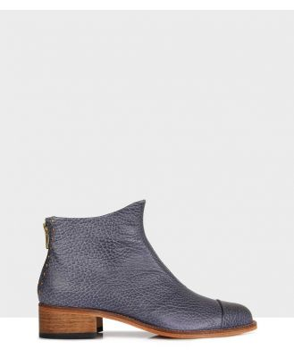 Beau Coops - Beau5 Montone Leather Boots - Boots (102-Grey) Beau5 Montone Leather Boots