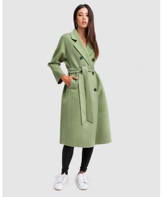 Belle & Bloom - Boss Girl Double Breasted Wool Coat - Coats & Jackets (Green) Boss Girl Double-Breasted Wool Coat