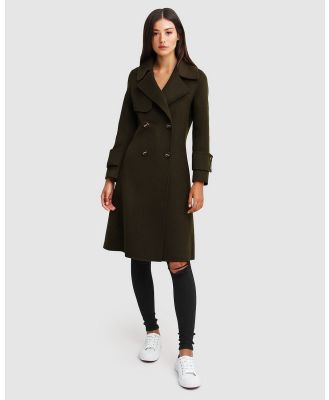 Belle & Bloom - Endless Attention Wool Coat - Coats & Jackets (Green) Endless Attention Wool Coat