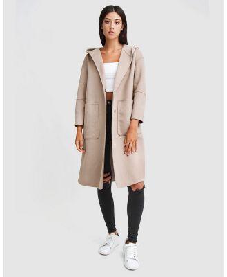 Belle & Bloom - Walk This Way Wool Blend Hooded Coat - Coats & Jackets (Neutrals) Walk This Way Wool Blend Hooded Coat