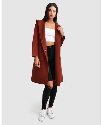 Belle & Bloom - Walk This Way Wool Blend Hooded Coat - Coats & Jackets (Red) Walk This Way Wool Blend Hooded Coat